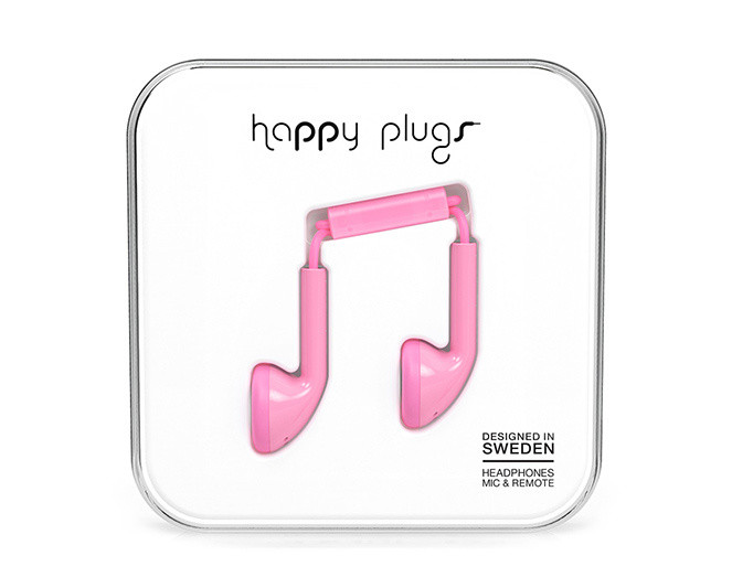Happy Plugs Slušalice Pink