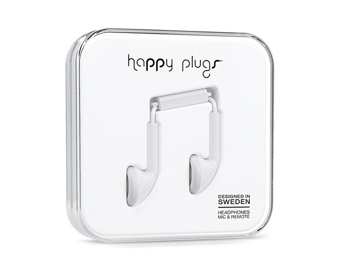 Happy Plugs Slušalice White